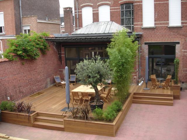 terrasse de plus de 20 m bois bleu creations. Black Bedroom Furniture Sets. Home Design Ideas