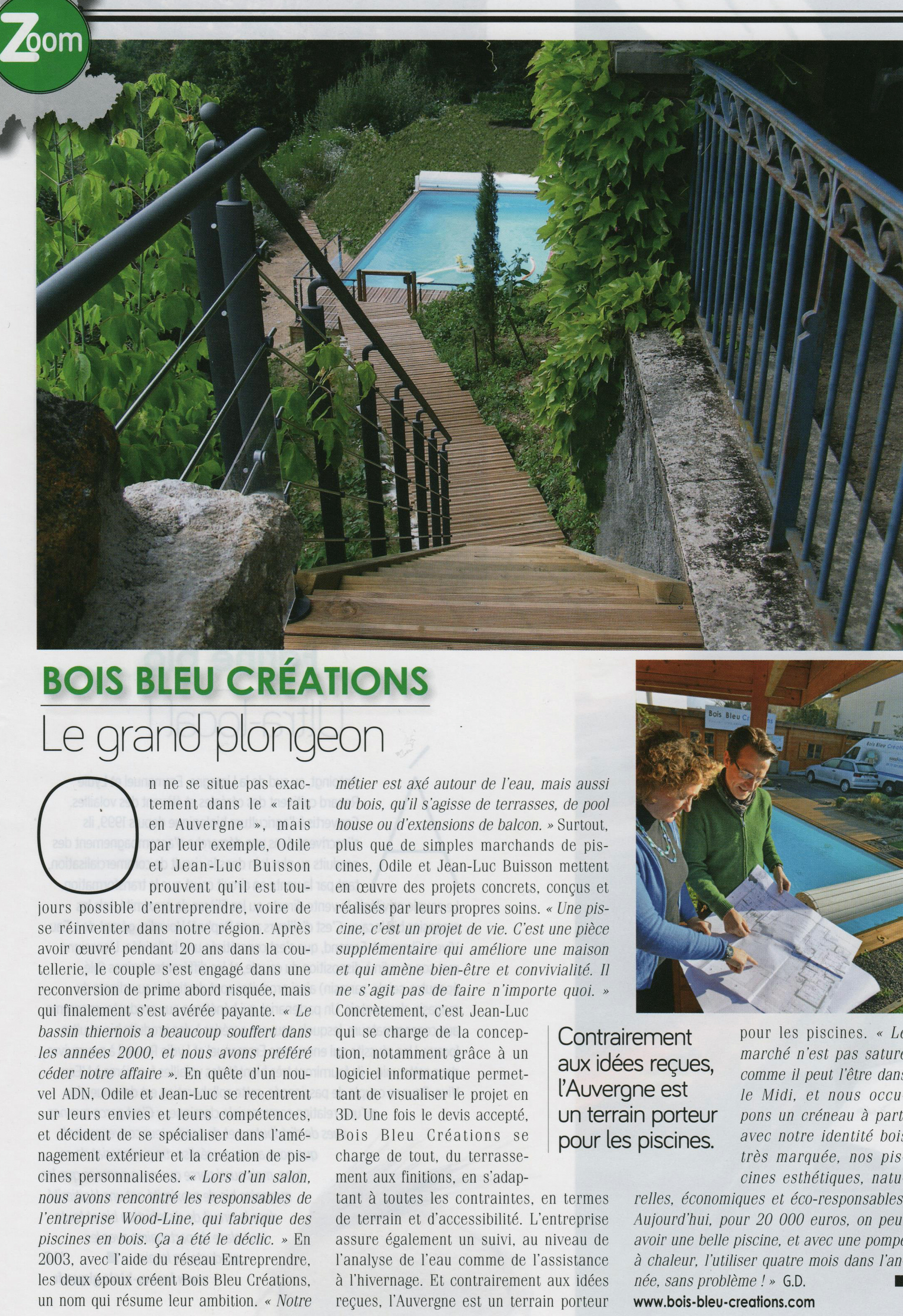 Article En Auvergne Magazine